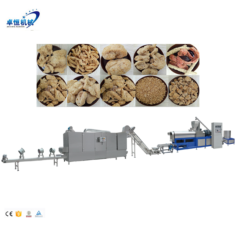 Low price Textured/Fiber Vegetarian soya protein processing line